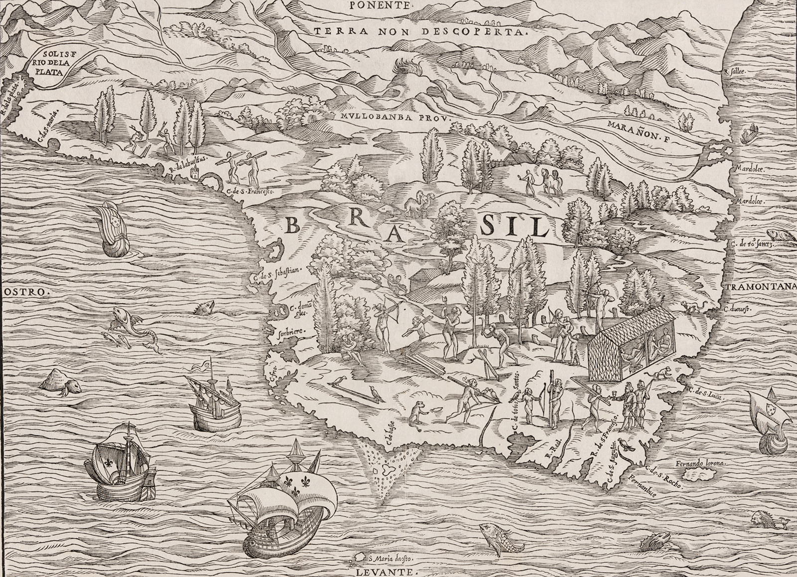 Mapa Historico Brasil